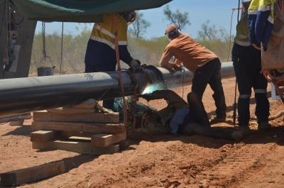 Welding joints on the Northern Gas Pipeline